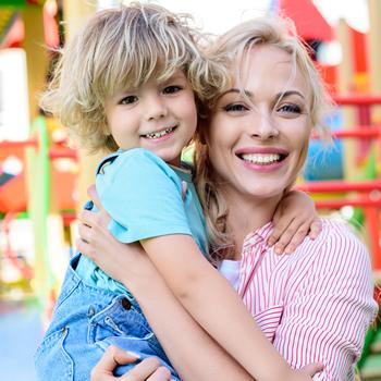 Preschool toddler with teacher