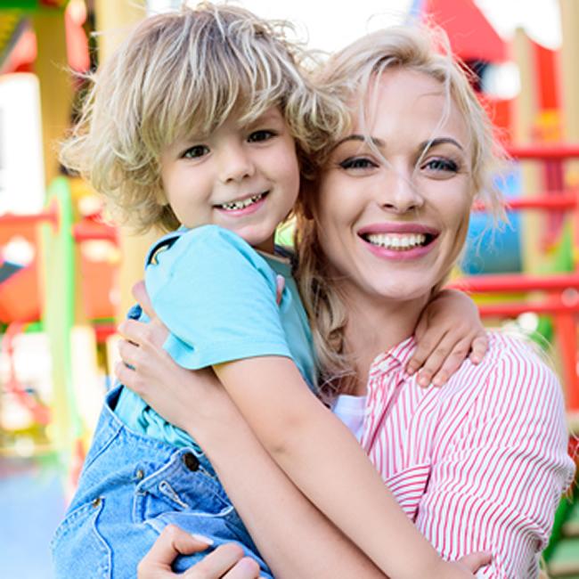 Preschooler with teacher