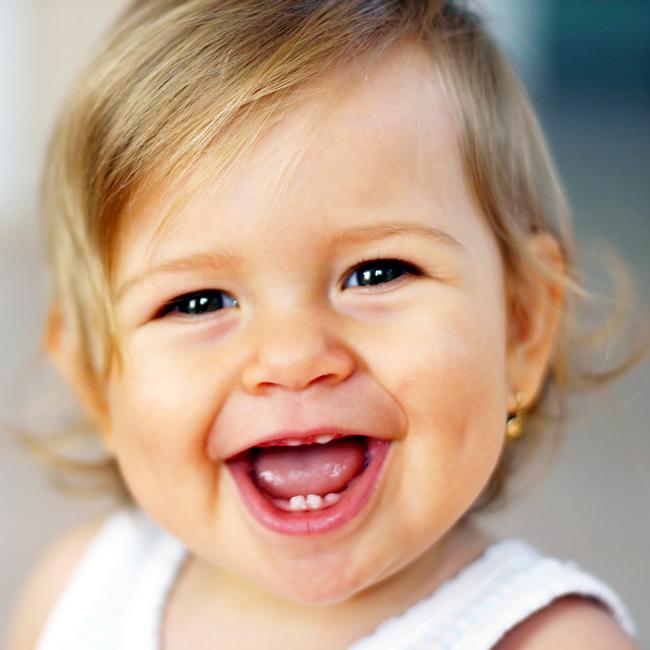 Happy adorable baby girl